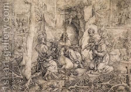 Scenes from the Life of St Giles by Jan (Mabuse) Gossaert - Reproduction Oil Painting