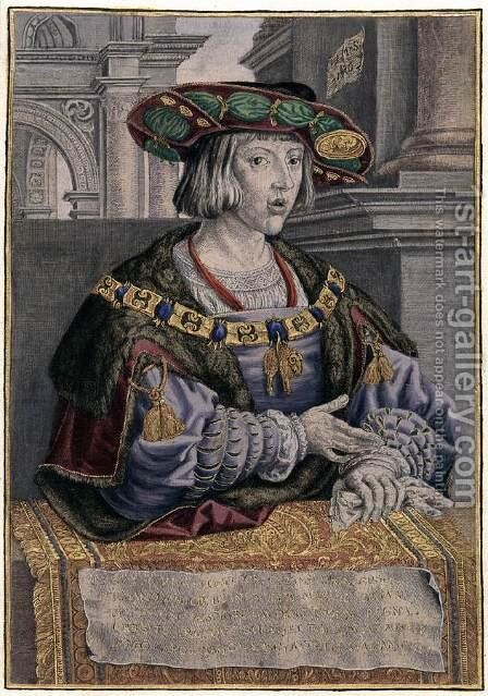Charles V by Jan (Mabuse) Gossaert - Reproduction Oil Painting