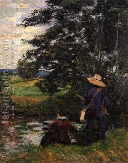 The Fishermen by Armand Guillaumin - Reproduction Oil Painting