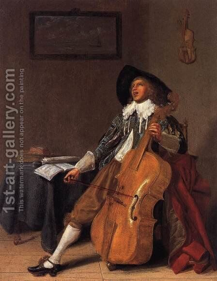 The Solo by Dirck Hals - Reproduction Oil Painting