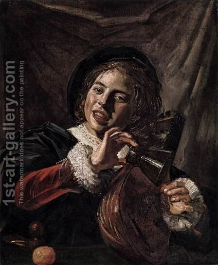 Boy with a Lute by Frans Hals - Reproduction Oil Painting