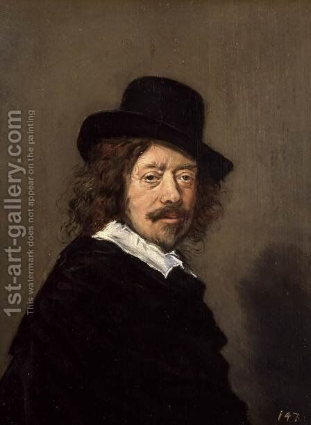 Portrait of Frans Hals by Frans Hals - Reproduction Oil Painting