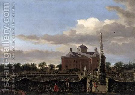 The Huis ten Bosch at The Hague and Its Formal Garden (View from the South) by Jan Van Der Heyden - Reproduction Oil Painting