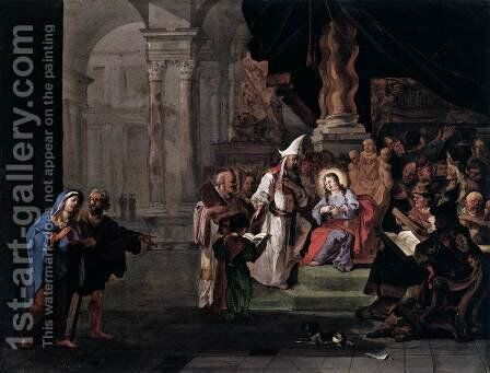 Christ among the Doctors by Abraham Danielsz. Hondius - Reproduction Oil Painting