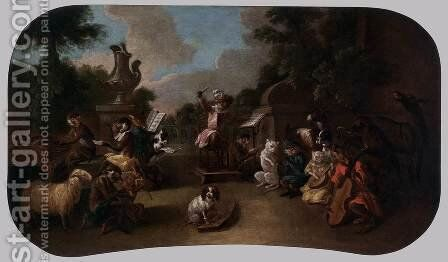 Singerie The Concert by Christophe Huet - Reproduction Oil Painting