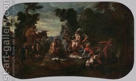 Singerie The Picnic by Christophe Huet - Reproduction Oil Painting