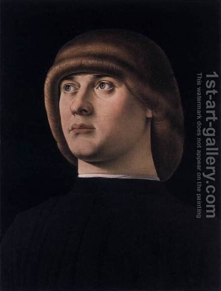 Portrait of a Young Man by Jacometto Veneziano - Reproduction Oil Painting