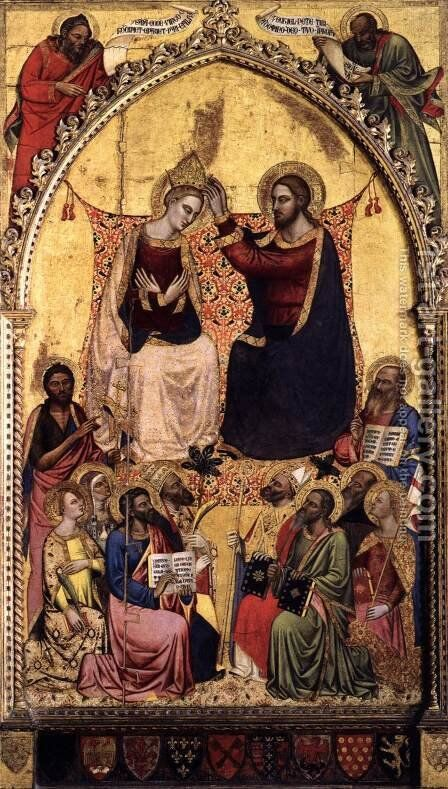Coronation of the Virgin by Jacopo di Cione - Reproduction Oil Painting