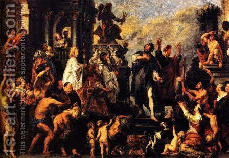 Apostles Paul and Barnabas in Lystra by Jacob Jordaens - Reproduction Oil Painting