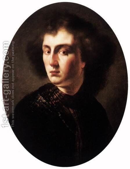 Bust of a Young Man by Isaac de Jouderville - Reproduction Oil Painting
