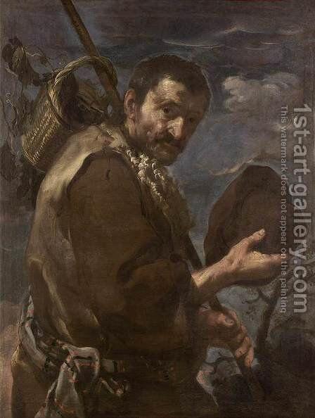 The Grape-Picker by Bernhard Keil - Reproduction Oil Painting