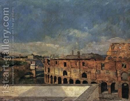 The Colosseum in Rome by Max Klinger - Reproduction Oil Painting