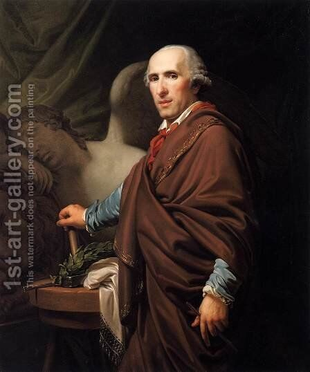 Portrait of Antonio Canova by Johann Baptist the Younger Lampi - Reproduction Oil Painting