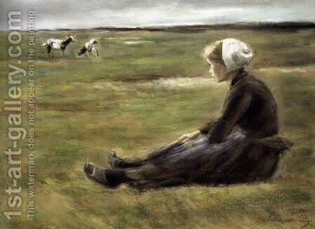 In the Field by Max Liebermann - Reproduction Oil Painting