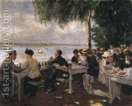 Garden Restaurant on the Havel by Max Liebermann - Reproduction Oil Painting