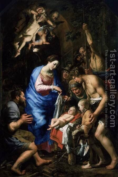 Adoration of the Shepherds by Theodoor Van  Loon - Reproduction Oil Painting
