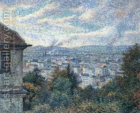 Paris Seen from Montmartre by Maximilien Luce - Reproduction Oil Painting