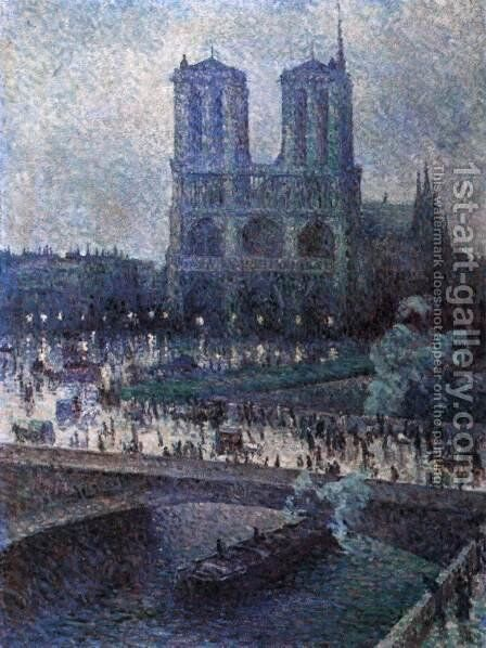 Notre-Dame 2 by Maximilien Luce - Reproduction Oil Painting