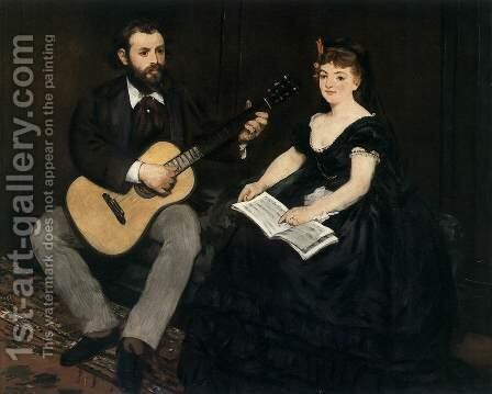 Music Lesson by Edouard Manet - Reproduction Oil Painting