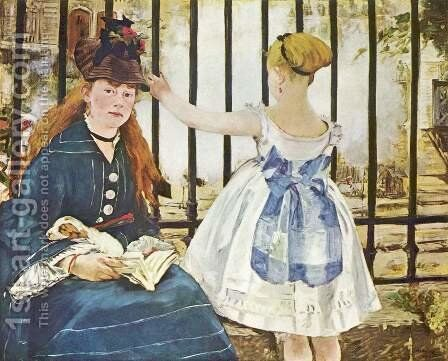 The Railway by Edouard Manet - Reproduction Oil Painting