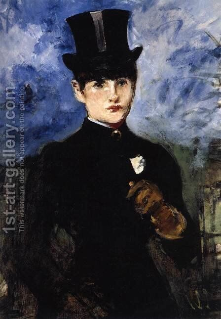 Woman in Riding Costume by Edouard Manet - Reproduction Oil Painting
