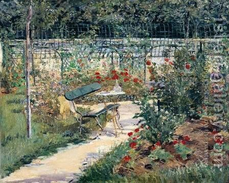 Bench in the Garden at Versailles by Edouard Manet - Reproduction Oil Painting
