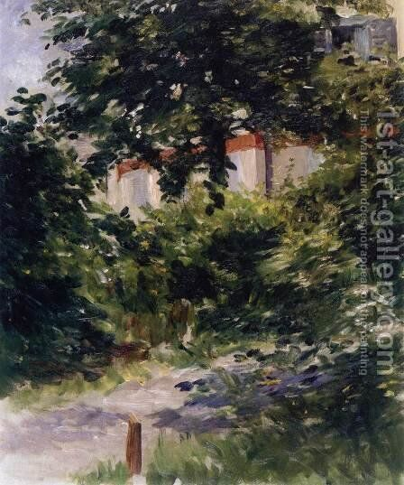House in the Foliage by Edouard Manet - Reproduction Oil Painting