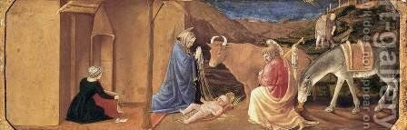 The Nativity by Master of the Castello Nativity - Reproduction Oil Painting