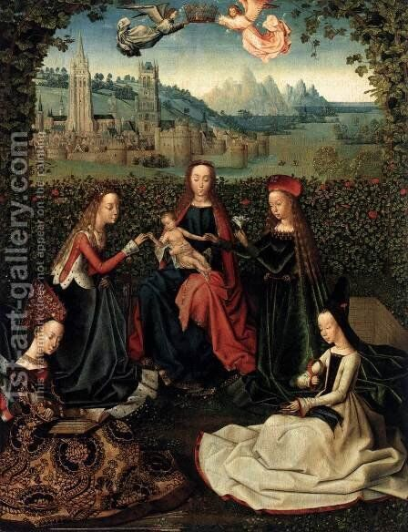 Virgin of the Rose Garden by Master of the Saint Lucy Legend - Reproduction Oil Painting
