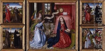 Triptych of the Annunciation by Master of the Legend of St. Ursula - Reproduction Oil Painting