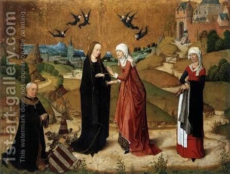 Visitation by Master of the Life of the Virgin - Reproduction Oil Painting