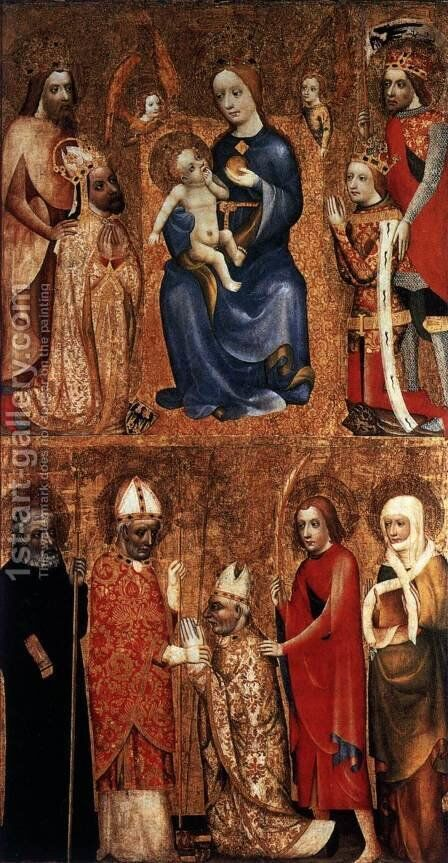 Votive Panel by Master Theoderic - Reproduction Oil Painting