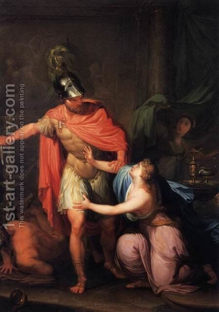 Odysseus with Circe by Hubert  Maurer - Reproduction Oil Painting