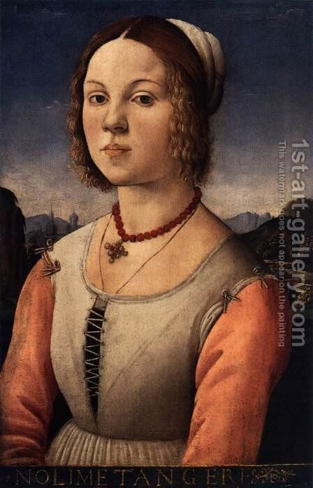 Portrait of a Young Woman by Angelo Di Donnino Del Mazziere - Reproduction Oil Painting