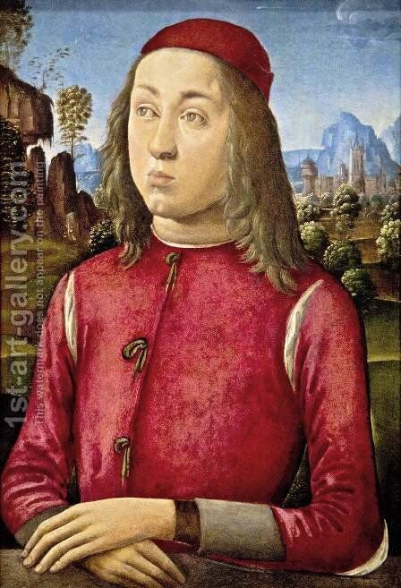 Portrait of a Youth by Angelo Di Donnino Del Mazziere - Reproduction Oil Painting