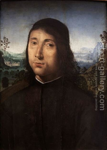 Portrait of a Young Man by Angelo Di Donnino Del Mazziere - Reproduction Oil Painting
