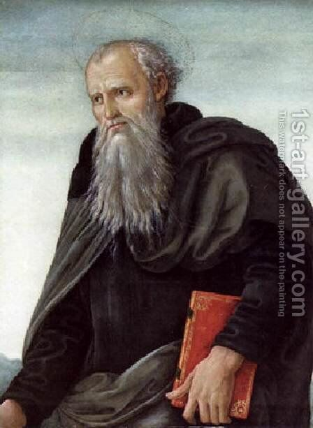 St Anthony Abbot by Angelo Di Donnino Del Mazziere - Reproduction Oil Painting