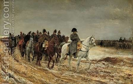 The Campaign in France 1814 by Jean-Louis-Ernest Meissonier - Reproduction Oil Painting
