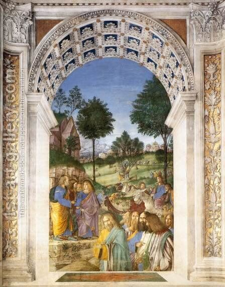Christ's Entry into Jerusalem by Melozzo da Forli - Reproduction Oil Painting