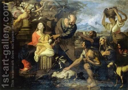 Adoration of the Shepherds by Giovanni Battista Merano - Reproduction Oil Painting