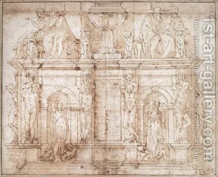 Tomb of Julius II by Michelangelo - Reproduction Oil Painting