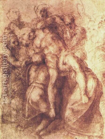 Descent from the Cross by Michelangelo - Reproduction Oil Painting