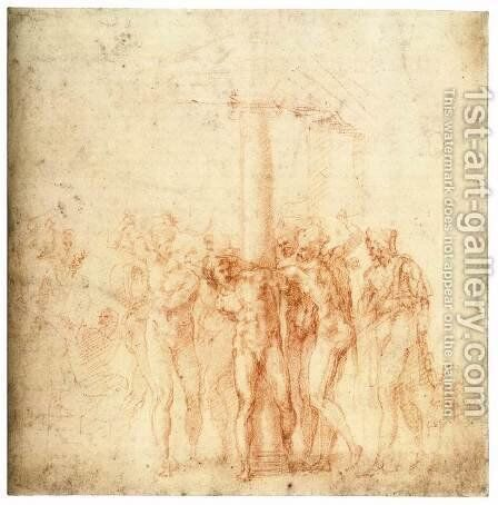 The Flagellation of Christ by Michelangelo - Reproduction Oil Painting