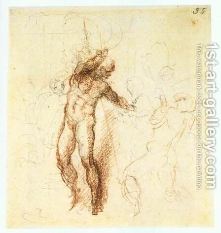 Christ in Limbo by Michelangelo - Reproduction Oil Painting