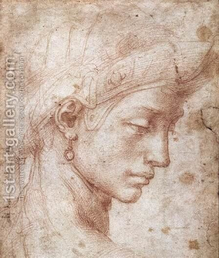 Ideal Face by Michelangelo - Reproduction Oil Painting