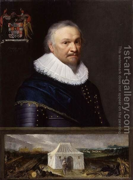 Horace Vere, Baron Vere of Tilbury by Michiel Jansz. van Miereveld - Reproduction Oil Painting