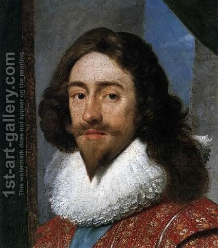 Charles I, King of England (detail) by Daniel I  Mijtens - Reproduction Oil Painting