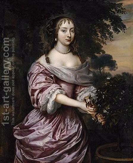Portrait of a Woman by Jan Mijtens - Reproduction Oil Painting