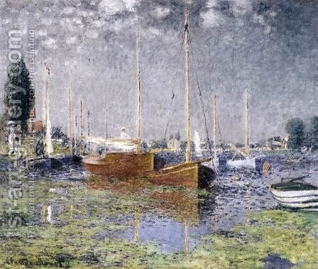 Red Boats at Argenteuil by Claude Oscar Monet - Reproduction Oil Painting