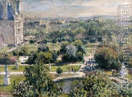 View of the Tuileries Garden by Claude Oscar Monet - Reproduction Oil Painting